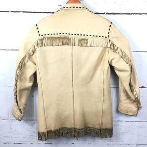 3b84fa77b Deer Wear Men sz 40 Deerskin Leather Jacket Fringe